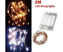 Cuivre LED Fil 2M 20LED