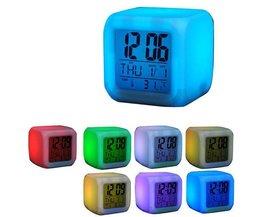 Horloge Colorful LED Numérique Avec Thermomètre