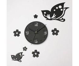 Noir Horloge Murale Bricolage Set