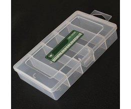5 Boîte De Rangement En Plastique Compartments