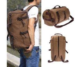 Vintage Backpack Canvas Bag
