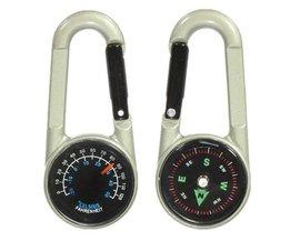 Mini Compass Et Thermomètre Keychain