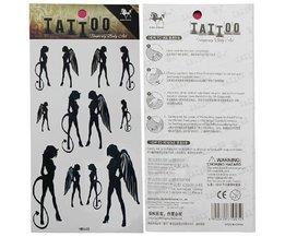 Bâton Ange Tattoo