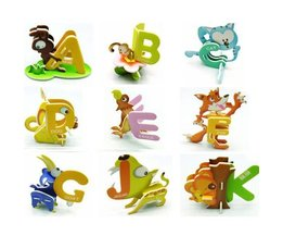 Puzzle Lettre 3D Avec Des Animaux