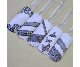 Papillon Dentelle Nail Stickers