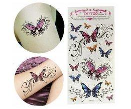 Collez Étanche Papillon Temporaire De Tatouage
