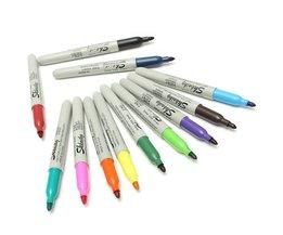 Coloré Permanent Markers (Pack De 12)