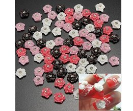 Rose Strass Pour Nail Art