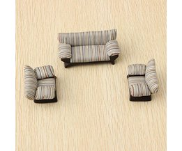 Striped Sofa 1:25 Echelle