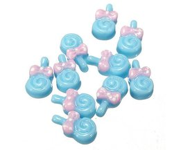 Set Nail Decoration Lolly \ 'S 10 Pieces