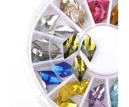 36 Nail Stickers Avec Strass