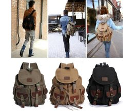 Unisexe Vintage Canvas Backpack