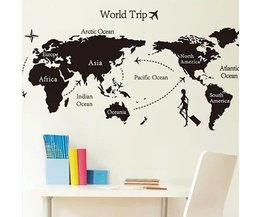 Wall Decal Carte Du Monde