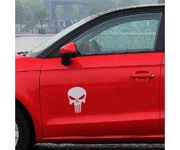 Autocollant Skull Voiture