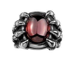 Angry Anneau Eye For Men With Ruby Pierre
