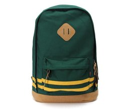 Ladies Canvas Backpack Avec Stripes