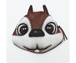 Animaux Wallet Squirrel Owl Hamster Lapin