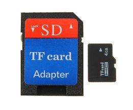 4GB Micro SD TF Comprend Adaptateur