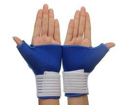 Poignet Élastique Bandage Gants 1 Paire