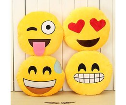 Coussin Smiley Jaune Rond
