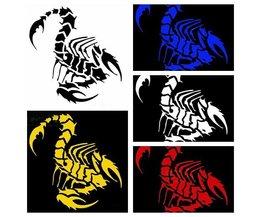Scorpion Autocollant De Voiture En Plusieurs Couleurs