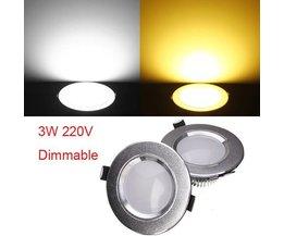 Plafonnier Encastré Lampe LED 220V 3W