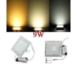 9W LED Light Panel Avec Le Pilote Dans Différentes Couleurs