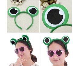 Netter Grüner Frosch-Augen-Stirnband