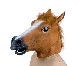 Pferdekopf-Maske Aus Latex