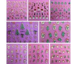 Nagel-Kunst-Aufkleber Für Weihnachten