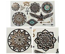 Metallic Paste Tattoo