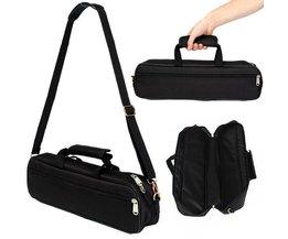Schwarz Flöte Tasche Mit Schulterriemen