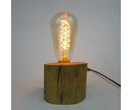 Tischlampe Holz