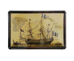 Vintage-Segelboot-Wand-Platten-Metall 30X20Cm