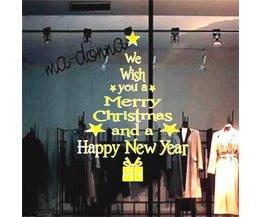 """Fenster-Aufkleber """"Merry Christmas"""""""