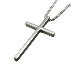 Edelstahl-Halskette Mit Kreuz