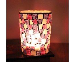 ARTI HOME Kerzenhalter Aus Glas Mit Mosaik-Muster