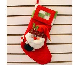 Festliche Weihnachtsstrumpf Mit Foto-Rahmen
