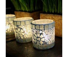 Kerzenhalter Mit Glasmosaik