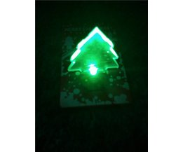3D-Weihnachtskarte Mit LED-Licht