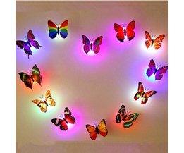 Nachtfalter-3D LED Farbwechsel 6Items