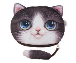 Nette Handtasche Mit 3D-Katze