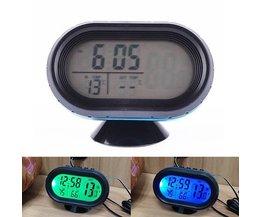 Digital-Uhr Für Auto Mit Temperaturanzeige Und Voltmeter