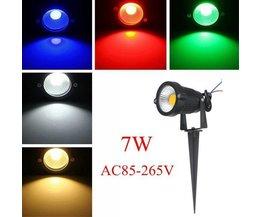 7W LED Garten Beleuchtung In Mehreren Farben