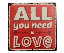 All You Need Is Love Dekoration Brett