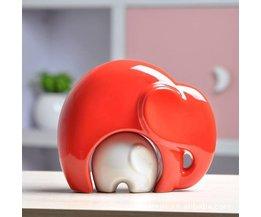 Dekorative Figur Elefant Baby-Elefant Keramik