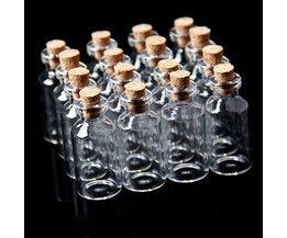 Mini-Flasche Mit Korken 10 Stück