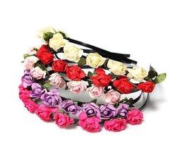 Stirnband Mit Bunten Blumen