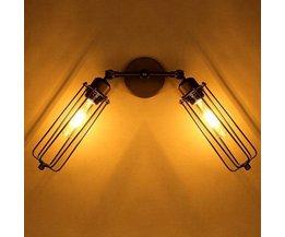 Eisen-Weinlese-Lampe