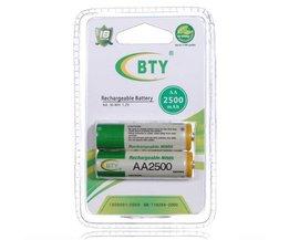 BTY Wiederaufladbare Batterien AA (2 Stück)